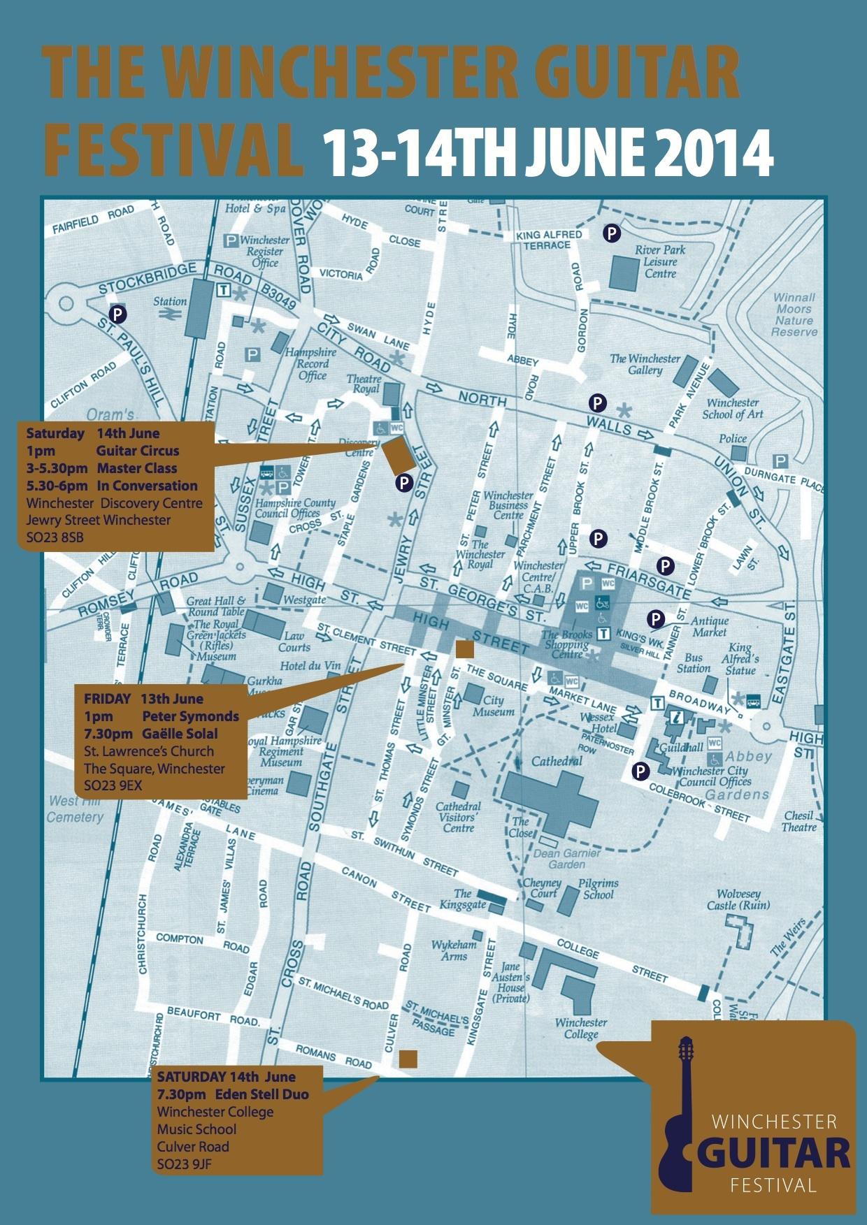 WGF14 Concert Venue Map